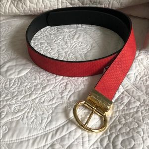 Red Snakeskin Belt